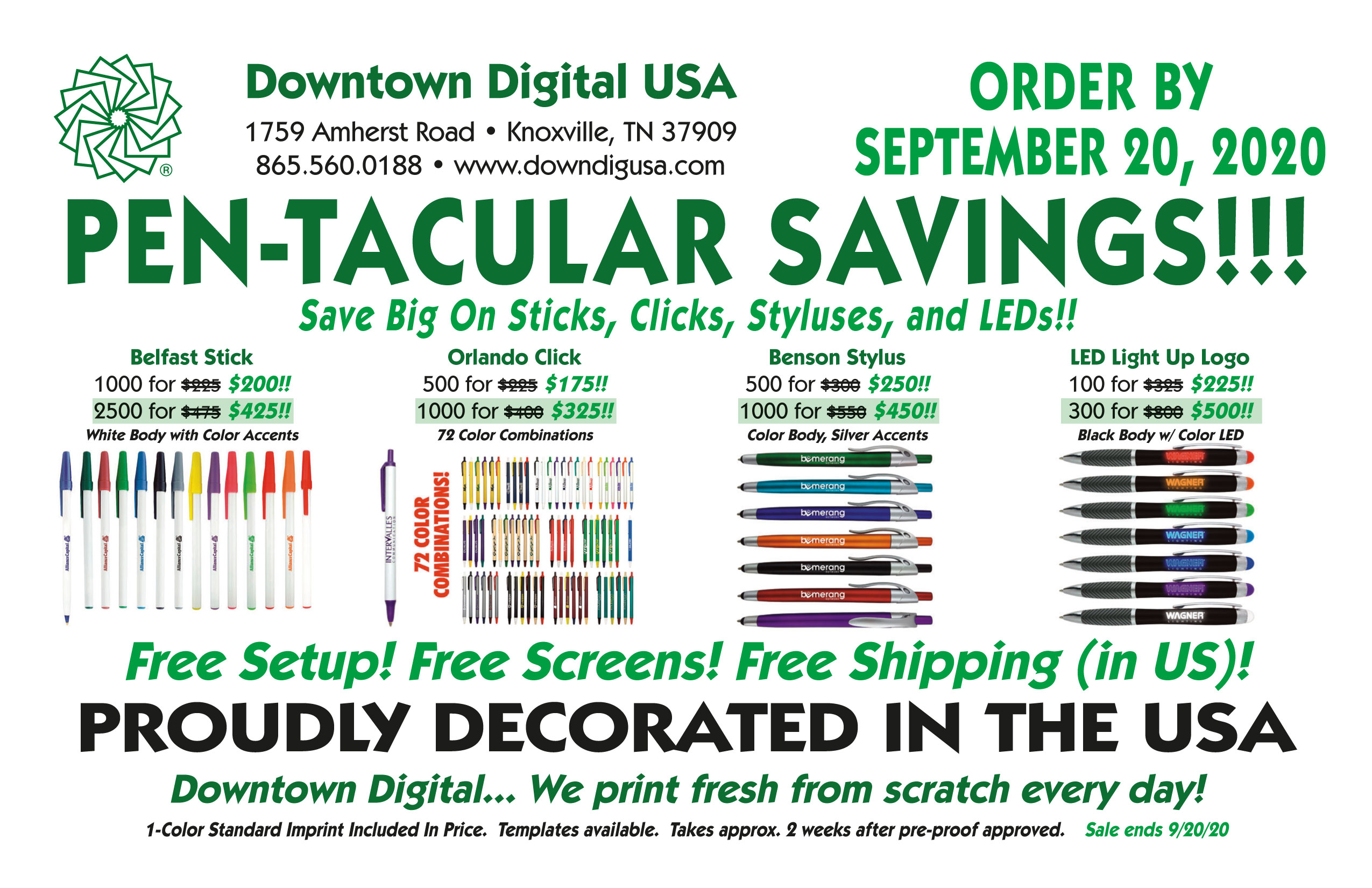 Downtown digital usa the souths most prestigious digital printer is in knoxville tennessee custom full color printing promotional products and fulfillment services reheart Gallery