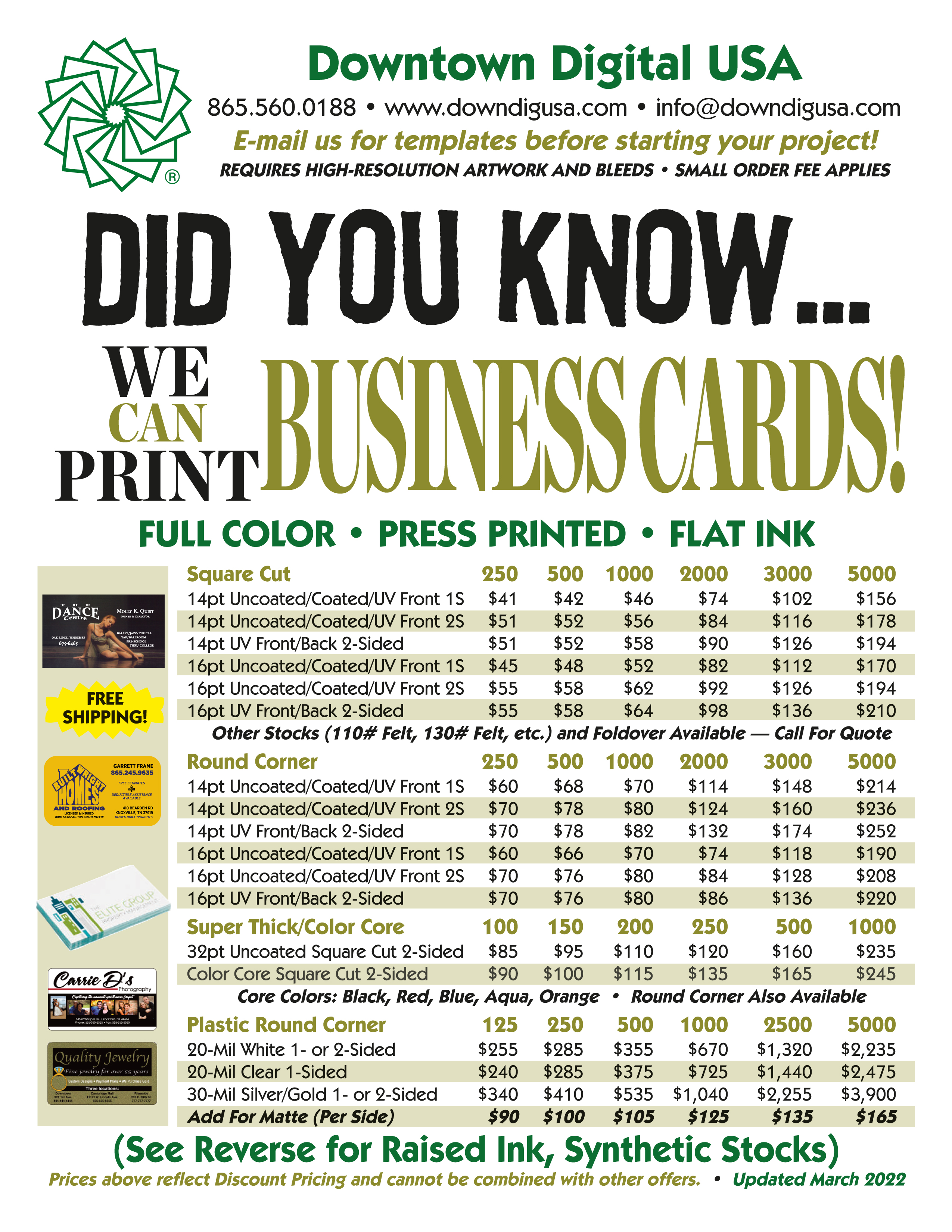 Business cards show larger pic reheart Images